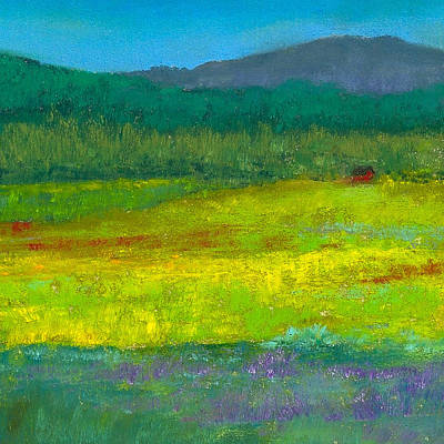 Impressionistic Painting - Cabin In The Meadow by David Patterson