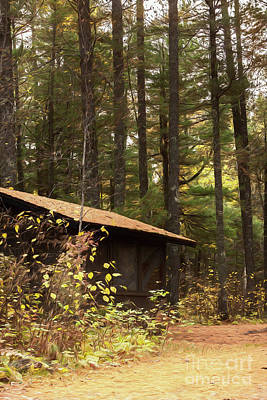 Cabin In The Pines Art Print