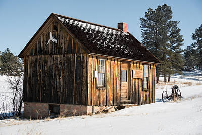 Photograph - Cabin In The Snow by Art Atkins