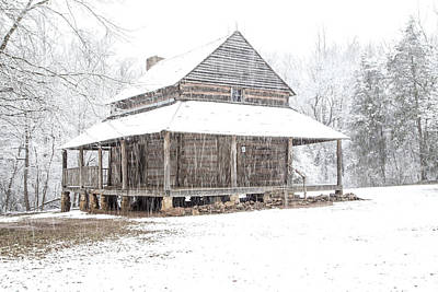 Photograph - Cabin In The Snow by Jim Dollar