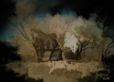Digital Art - Cabin In The West by Richard Ricci