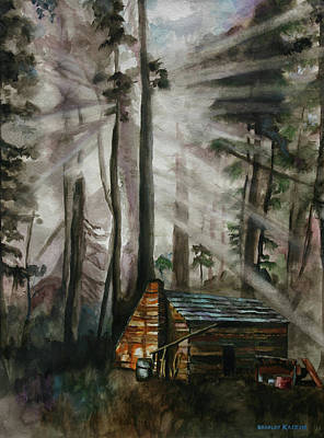 Painting - Cabin In The Woods by Bradley Kaskin