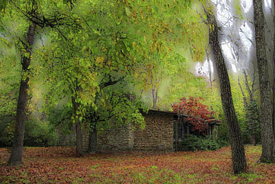 Photograph - Cabin In The Woods by Cedric Hampton