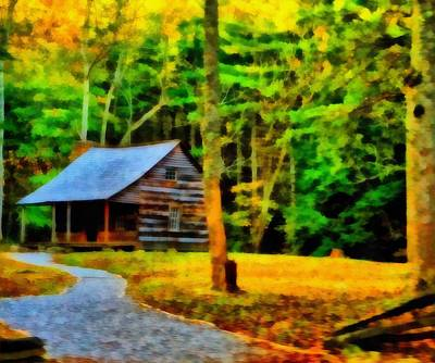 Cabin In The Woods Print by Dan Sproul