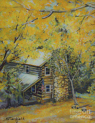 Smokey Mountains Painting - Carolina Colors by Johnnie Stanfield