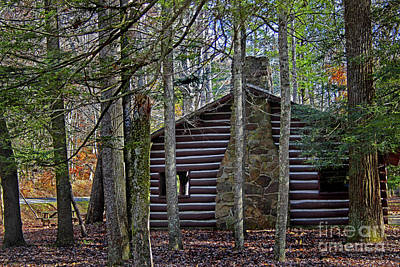 Photograph - Cabin In The Woods by Karen Adams