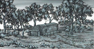 Painting - Cabin In The Woods by Kenneth Clarke