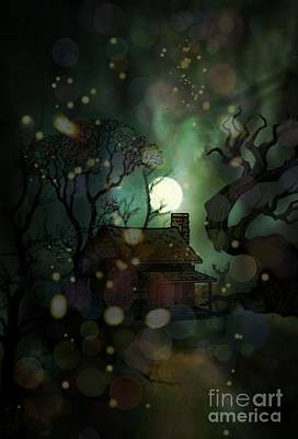 Digital Art - Cabin In The Woods by Maria Urso
