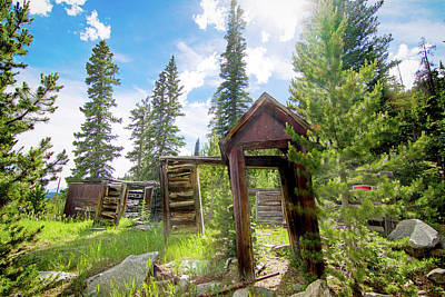 Photograph - Cabin In The Woods by Mark Andrew Thomas