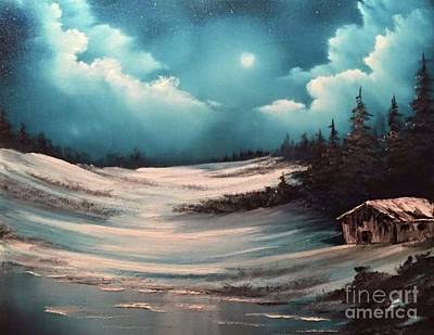Painting - Cabin In The Woods  by Paintings by Justin Wozniak