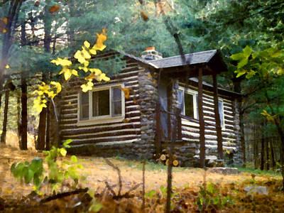 Painting - Cabin In The Woods by Paul Sachtleben