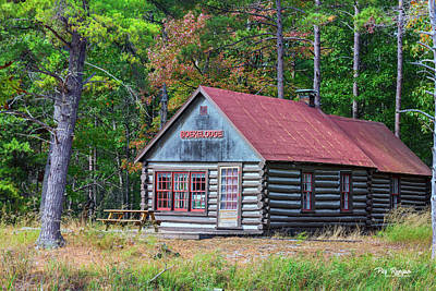 Photograph - Cabin In The Woods by Peg Runyan