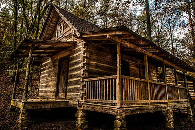 Photograph - Cabin In The Woods by Randy Walton