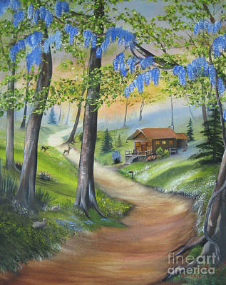 Painting - Cabin In The Woods by RJ McNall