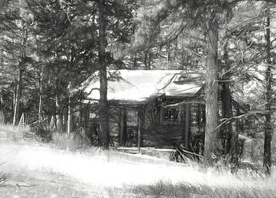 Digital Art - Cabin In The Woods by Steven Parker
