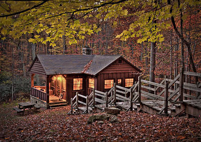Va Photograph - Cabin In The Woods by Williams-Cairns Photography LLC