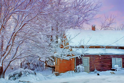Photograph - Cabin In Winter by Nikolyn McDonald