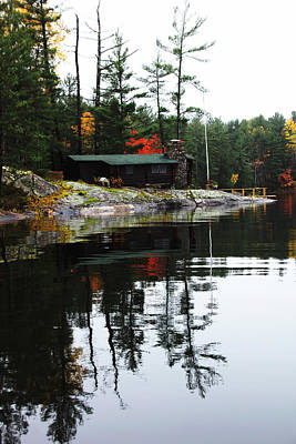 Photograph - Cabin On The Rocks by Debbie Oppermann