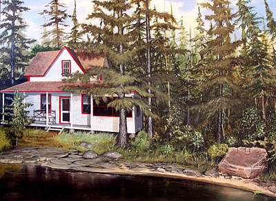 Painting - Cabin On The St Lawrence by James R Hahn