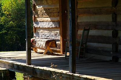 Photograph - Cabin Porch by Kathryn Meyer