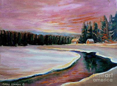 Painting - Cabin Retreat by Carole Spandau