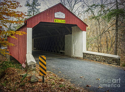 Photograph - Cabin Run Covered Bridge by Debra Fedchin