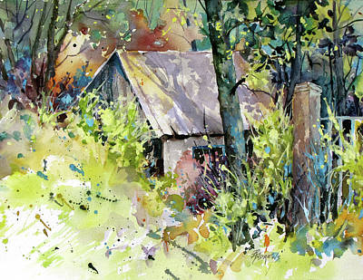 Painting - Cabin Seclusion by Rae Andrews