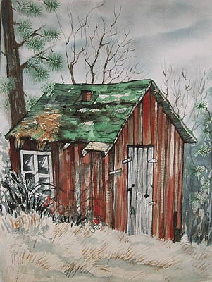 Painting - Cabin Shack by Lynne Haines