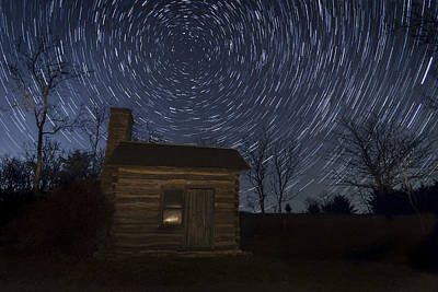 Photograph - Cabin Under The Stars by Scott Bean