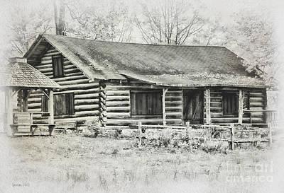 Cabin Vintage Art Print by Korrine Holt