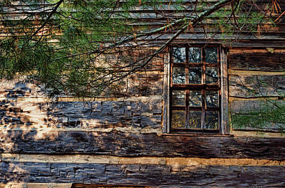 Photograph - Cabin Window by Joanne Coyle