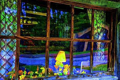 Photograph - Cabin Window by Rick Bragan