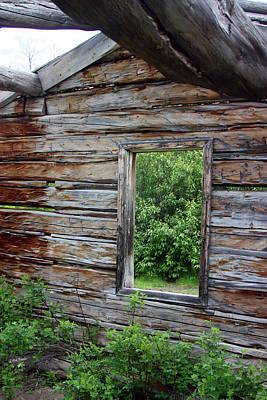 Photograph - Cabin Window by Rick Thiemke