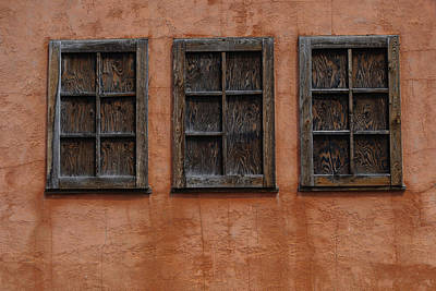 Photograph - Cabin Window Trio by DS Dodd