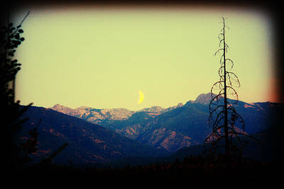 Cabinet Mountain Moon Art Print by Brent Sisson