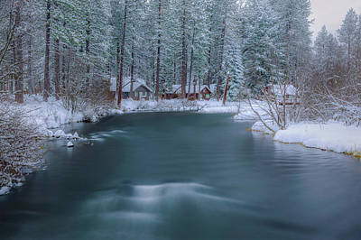 Print featuring the photograph Cabins On The Metolius by Cat Connor
