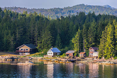 Photograph - Cabins On The Water by Lewis Mann