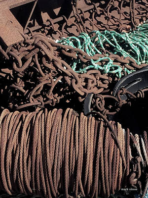 Photograph - Cable And Chain by Mark Alesse