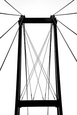Photograph - Cable Bridge Abstract by Debbie Oppermann