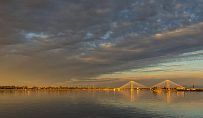 Photograph - Cable Bridge Sunset by Loree Johnson