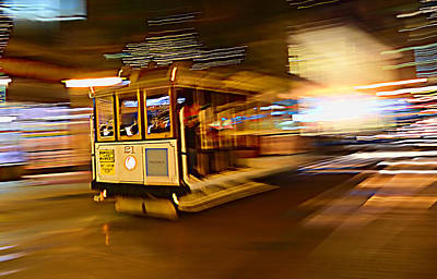 Art Print featuring the photograph Cable Car At Light Speed by Steve Siri