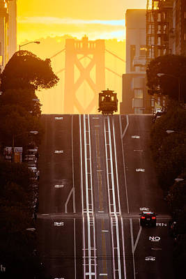 Bay Bridge Photograph - Cable Car by David Yu
