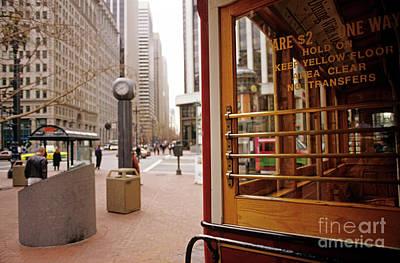 Photograph - Cable Car Downtown San Francisco by Jim Corwin