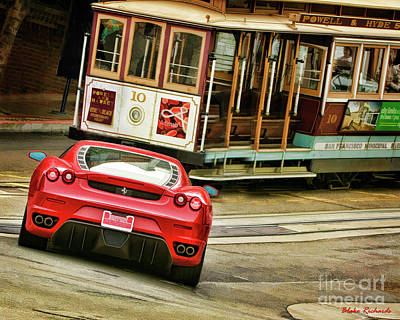 Photograph - Cable Car Meets Ferrari by Blake Richards
