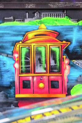 Haight Ashbury Wall Art - Photograph - Cable Car Mural by Art Block Collections