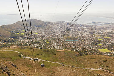 Photograph - Cable Car On Table Mountain In Cape Town by Marek Poplawski