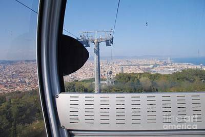Photograph - Cable Car Pod In Barcelona by David Fowler