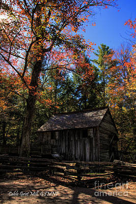 Photograph - Cable Grist Mill by Barbara Bowen
