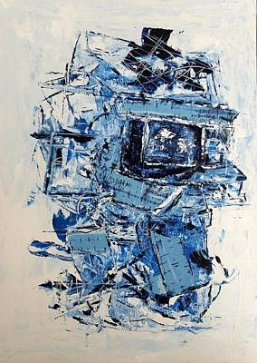 Wall Art - Painting - Cable News by Linda Wimberly