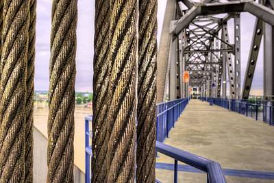Photograph - Cables And Pulleys by JC Findley